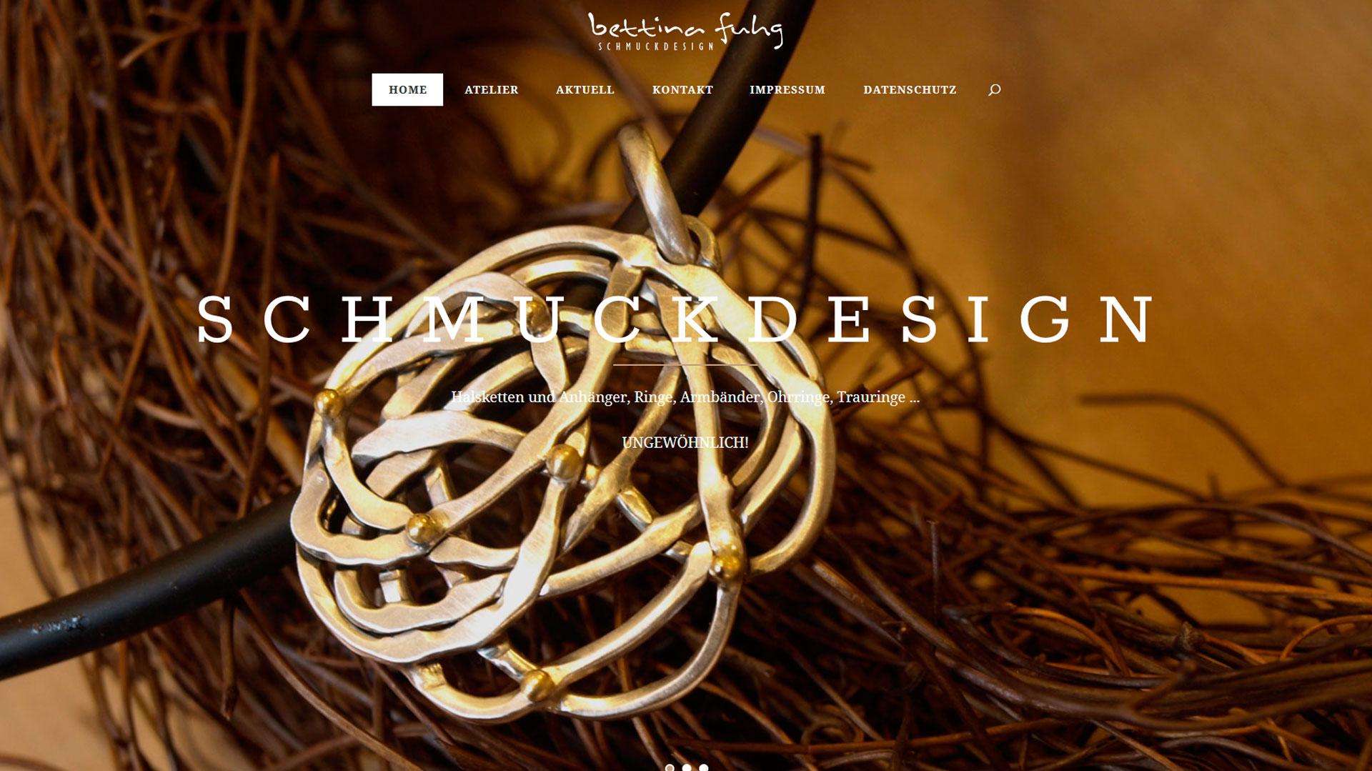 Neue Webseite, Bettina Fuhg, Schmuck Minden